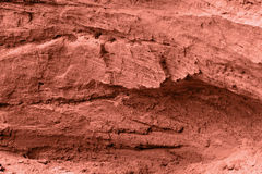 красная каменная текстура Стоковая Фотография RF