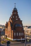 Красная каменная церковь Стоковое Изображение RF