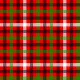 Красная картина зеленой и черной ткани тартана традиционной безшовная, вектор иллюстрация вектора