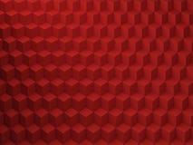 Красная картина кубов, 3d представляет иллюстрацию Стоковые Изображения RF