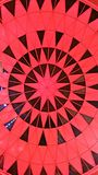 Красная картина потолка Стоковое Фото