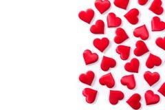 Красная картина сердец изолировала Copyspace стоковые изображения rf