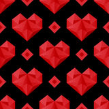 Красная картина сердец Стоковое Изображение RF