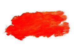 Красная картина brushstroke акварели изолированная на белой предпосылке стоковая фотография
