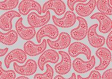 Красная картина paisley Стоковое Изображение RF
