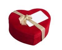 Красная карточка сердца и посещения Стоковые Изображения RF