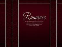 Красная карточка с орнаментальными украшениями Стоковое Изображение