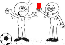 Красная карточка Стоковые Изображения