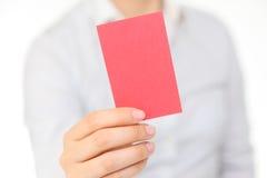 Красная карточка Стоковое Изображение RF