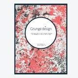 Красная карточка grunge Стоковое Изображение