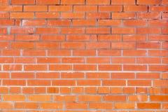 Красная кирпичная стена, аккуратная кирпичная кладка Стоковое Изображение