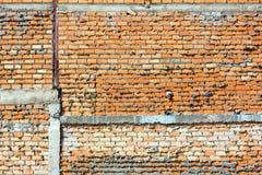 Красная кирпичная стена, апельсин Стоковое Фото
