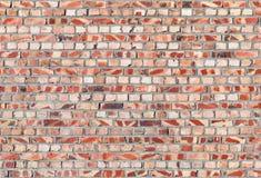Красная кирпичная стена, безшовная текстура Стоковое Фото