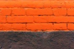 Красная кирпичная стена как славно текстурированная предпосылка Стоковое Фото