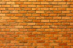 Красная кирпичная стена, пустая кирпичная стена текстурированная предпосылка Стоковые Изображения RF