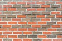 Красная кирпичная стена. Стоковая Фотография
