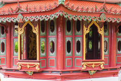 Красная китайская пагода стоковое изображение
