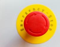 Красная кнопка аварийного стопа Стоковые Изображения RF
