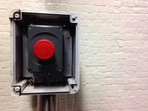 Красная кнопка горизонтальная Стоковое фото RF