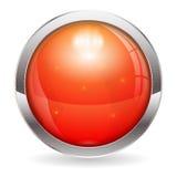 Красная кнопка Стоковое Фото