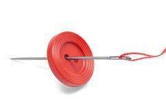 Красная кнопка Стоковое фото RF