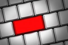 Красная кнопка Стоковое Изображение