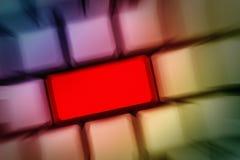 Красная кнопка Стоковая Фотография