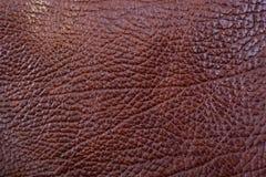 Красная кожаная искусственная предпосылка текстуры Стоковые Фото