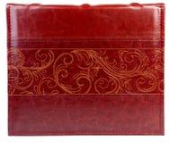 Красная кожаная книга на backround wite Стоковое Изображение