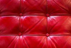 Красная кожаная текстура Стоковая Фотография