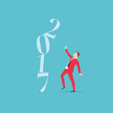 Красная концепция 2017 бизнесмена костюма стоковые фото