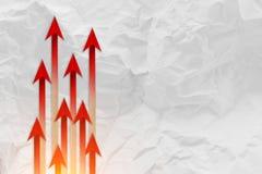Красная концепция дела руководителя стрелки Красное дело c руководителя стрелки Стоковые Изображения RF