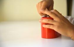 Красная копилка Стоковое Изображение RF