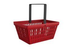 Красная корзина для товаров Стоковое Изображение RF