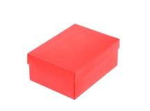 Красная коробка ботинка изолированная на белой предпосылке Стоковые Изображения RF