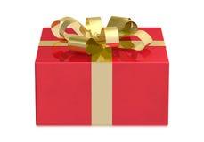 Красная коробка, вид спереди Стоковые Фото