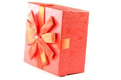 Красная коробка для подарков Стоковое Изображение