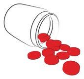 Красная коробка пилюлек Стоковые Изображения