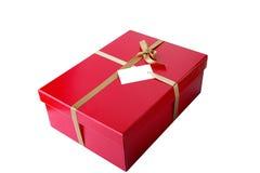 Красная коробка подарка Стоковые Фото