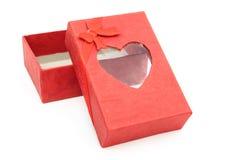 Красная коробка подарка Стоковые Изображения