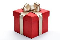 Красная коробка подарка Стоковое Изображение