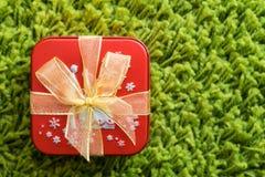 Красная коробка подарка Стоковое Фото