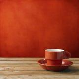 Красная кофейная чашка стоковое изображение rf