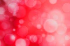 Красная красивая defocused светлая предпосылка абстрактное bokeh нерезкости Стоковое Изображение