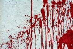 Красная краска на белой стене Стоковое фото RF