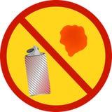 Красная краска для пульверизатора культивирование бригады запрета горящее тушит знак открытого запрещения пожарных пожара спешя к Стоковая Фотография