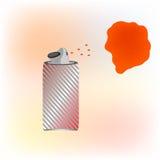 Красная краска для пульверизатора пятно на красном цвете стены Стоковые Фотографии RF
