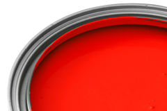 Красная краска Стоковое Изображение RF