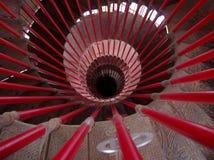 Красная круговая лестница Стоковое фото RF