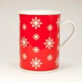 Красная кружка рождества Стоковая Фотография